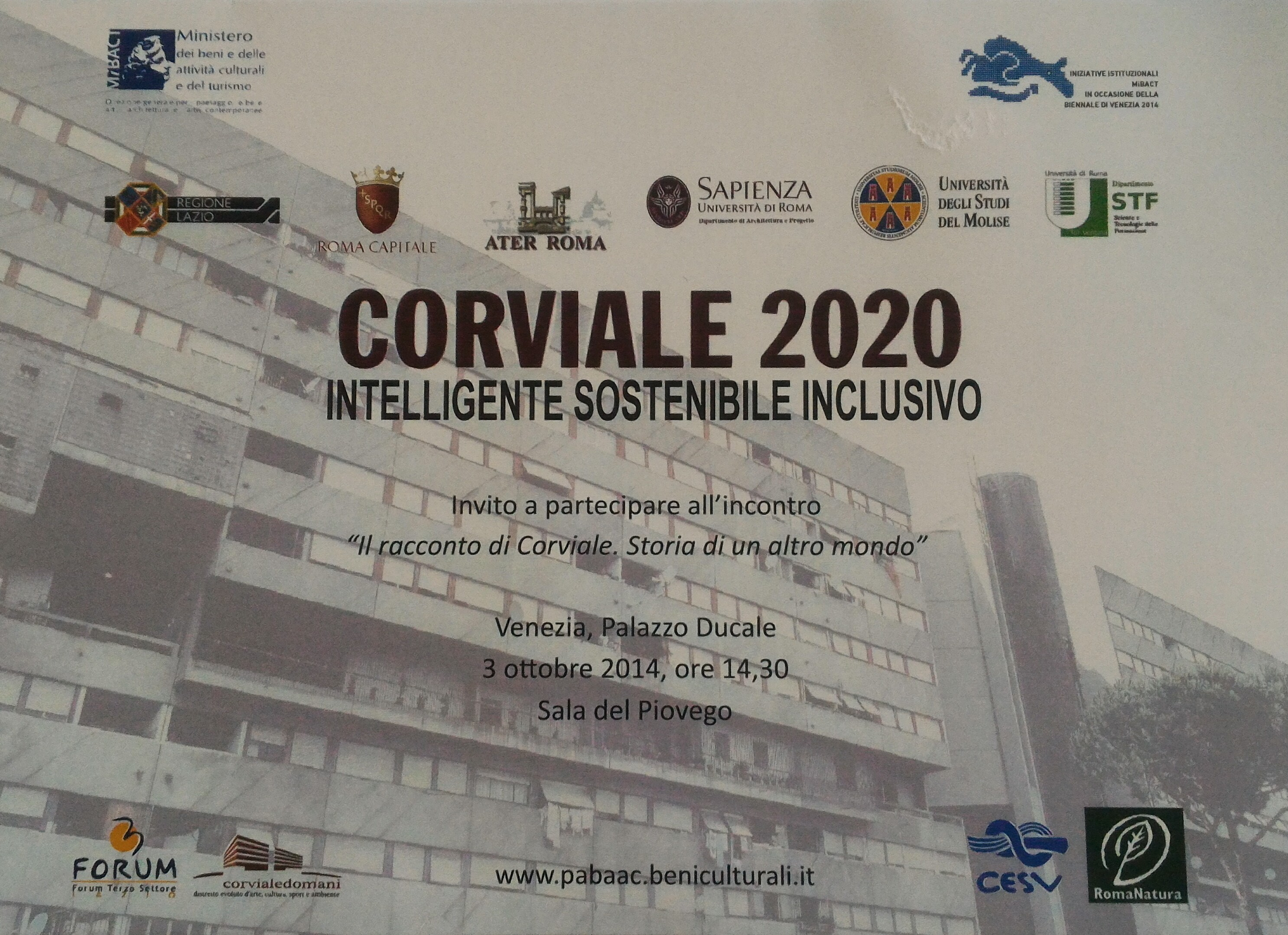CORVIALE 2020- Intelligente, Sostenibile, Inclusivo